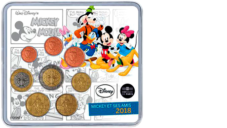France Official Euro Set Mickey and Friends 2018