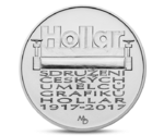 Czech 200 CZK Hollar Graphic Artists Silver 2017