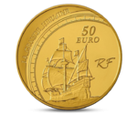 FRANCE 50 EURO GRANDS EXPLORATEURS JACQUES CARTIER GOLD 2011