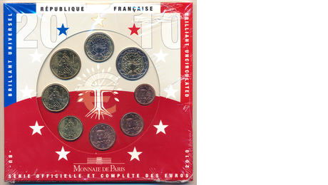 France Official Euro Set 2010 in Folder