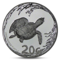 South Africa 20 cent Turtle 2013 Proof Silver