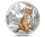 Austria 3 Euro Colourful Creatures Tiger 2017