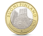 Finland 5 Euro Animals of the Provinces - Uusimaa Hedgehog 2015