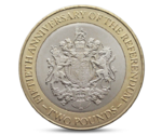 Gibraltar 2 pounds Referendum Queen Elizabeth II 2017