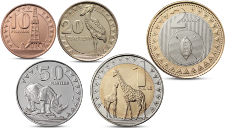 South Sudan 5 Coins Set Animals 2015 UNC