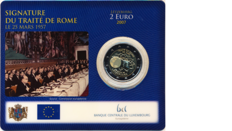 Luxembourg 2 Euro Treaty of Rome in Blister 2007