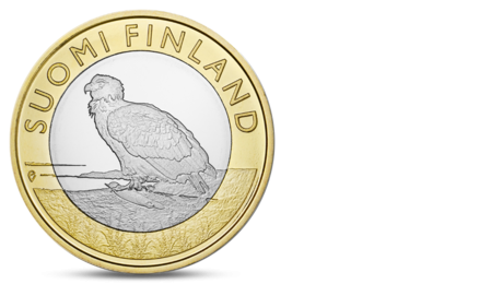 Finland 5 Euro Animals of the Provinces - Aland Eagle 2014