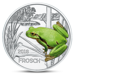 Austria 3 Euro Colourful Creatures Frog 2018