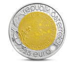 Austria 25 Euro Niobium International Year of Astronomy 2009