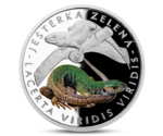 Niue 1 Dollar European Green Lizard Silver 2017