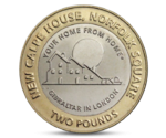 Gibraltar 2 Pounds Calpe House Queen Elizabeth II 2018