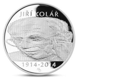 Czech 500 CZK Jiri Kolar Silver 2014 PROOF