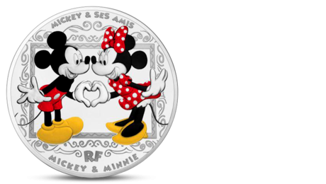 France 10 Euro Disney Mickey and Minnie Silver 2018 ROOF