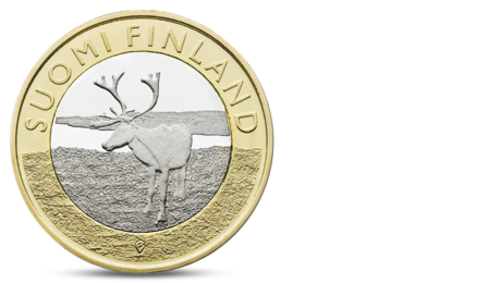 Finland 5 Euro Animals of the Provinces - Lapland Reindeer 2015