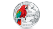 Austria 3 Euro Colorful Creatures The Parrot 2018