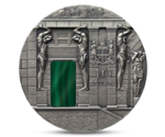 Fiji 10 Dollars Malachite Room Masterpieces in Stone Silver 2013