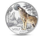 Austria 3 Euro Colourful Creatures The Wolf 2017