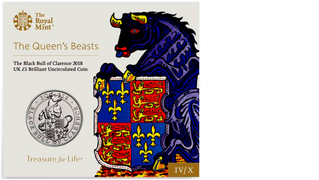 UK £5 Black Bull of Clarence 2018