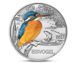 Austria 3 Euro Colourful Creatures The Kingfisher 2017