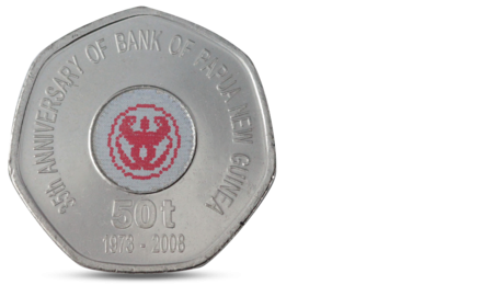 PAPUA NEW GUINEA 50 TOEA 35-th ANNIVERSARY OF BANK