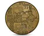 POLAND 2 ZL ZLOTY 100th ANNIVERSARY OF DISCOVERING POLONIUM AND RADIUM UNC 1998